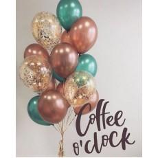 """Облако из воздушных шаров """"Кофе с мятой"""""""