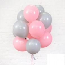 """Готовая композиция из шаров """"Розовая пыль"""""""