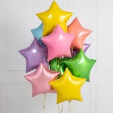 """Готовая композиция из шаров """"Разноцветные звезды"""""""