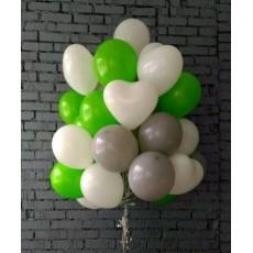 """Готовая композиция из шаров """"Зеленый виноград"""""""