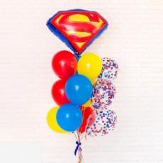 """Готовая композиция из шаров """"Supermen"""""""