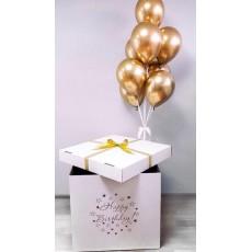"Коробка с шарами ""Золото"""