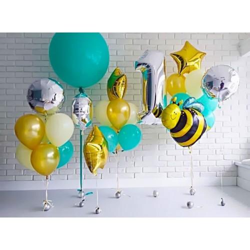 """Готовая композиция из шаров """"Праздник с пчелкой Майей"""""""