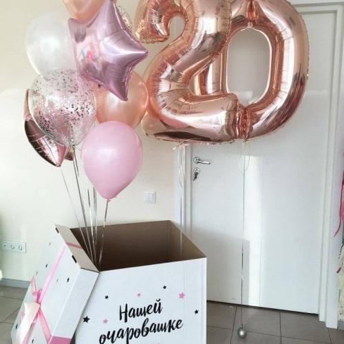 """Коробка с шарами """"Розовые кораллы"""""""