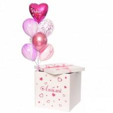"""Коробка с шарами """"Розовые переливы"""""""