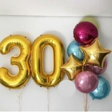 """Готовая композиция из шаров """"30 лет"""""""