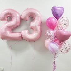 """Готовая композиция из шаров """"23 года"""""""