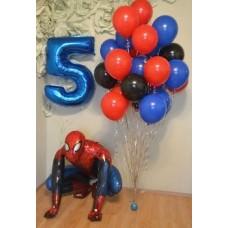 """Готовая композиция из шаров """"Spider-Man"""""""