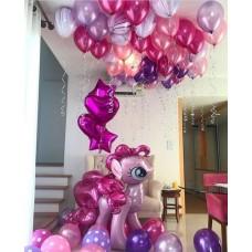 """Готовая композиция из шаров """"Мой розовый пони"""""""