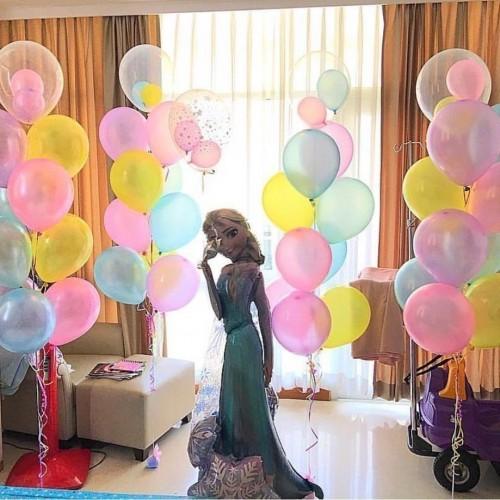 """Готовая композиция из шаров """"Праздник с принцессой Эльзой"""""""