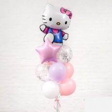 """Готовая композиция из шаров """"Hello Kitty"""""""