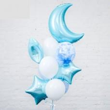 """Готовая композиция из шаров """"Голубой полумесяц"""""""
