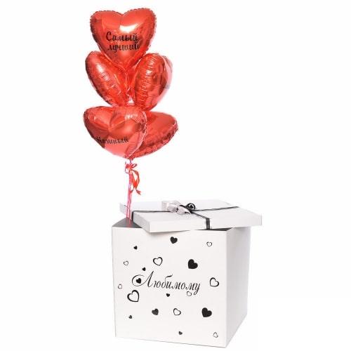 """Коробка с шарами """"Большая любовь"""""""