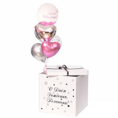 """Коробка с шарами """"Моей доченьке"""""""