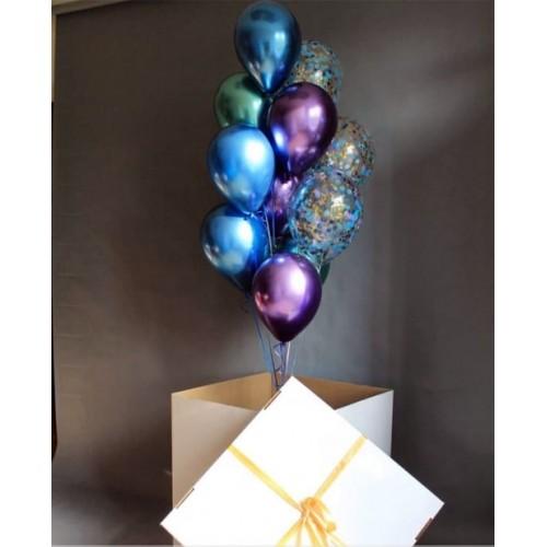 """Коробка с шарами """"Цветное небо"""""""