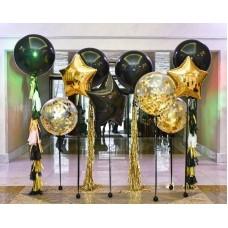 """Готовая композиция из шаров """"Фотозона в золоте"""""""
