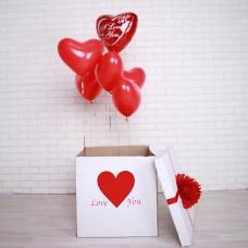 """Коробка с шарами """"Love you"""""""