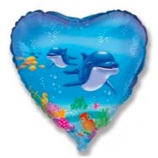 """Фольгированный шар """"Дельфины"""""""