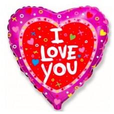 """Фольгированный шар """"Я люблю тебя"""""""