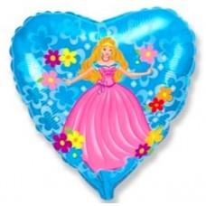 """Фольгированный шар """"Принцесса с цветами"""""""