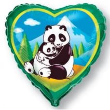 """Фольгированный шар """"2 панды"""""""