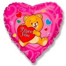 """Фольгированный шар """"Влюбленный медведь"""""""