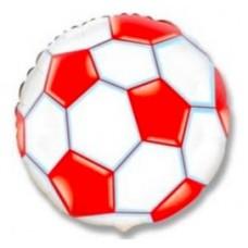 """Фольгированный шар """"Футбольный мяч красный"""""""