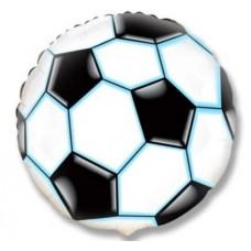 """Фольгированный шар """"Футбольный мяч черный"""""""