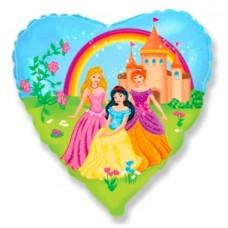 """Фольгированный шар """"3 принцессы"""""""