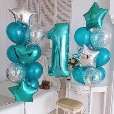 """Композиция из шаров """"На день рождения"""""""