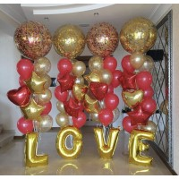 """Готовая композиция из шаров """"Это любовь"""""""