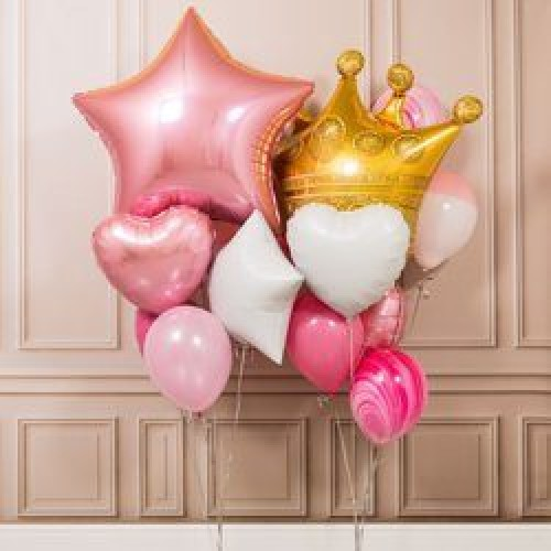 """Композиция из шаров """"Для маленьких принцесс"""""""