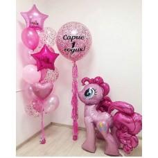 """Готовая композиция из шаров """"My Little Pony"""""""