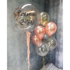 Готовая композиция из шаров на день рождения