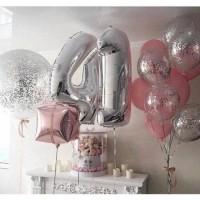 """Готовая композиция из шаров  """"Happy birthday"""""""