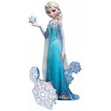 "Шар ""Ходячая фигура"" принцесса Эльза."