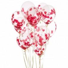 Воздушные шары с конфетти с Сердечками