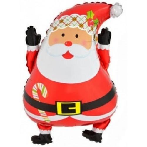 """Фольгированный шар фигура """"Дед мороз"""" 66 см"""