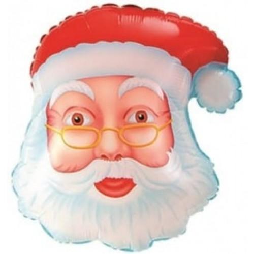 """Фольгированный шар """"Голова Деда мороза"""" 48 см"""
