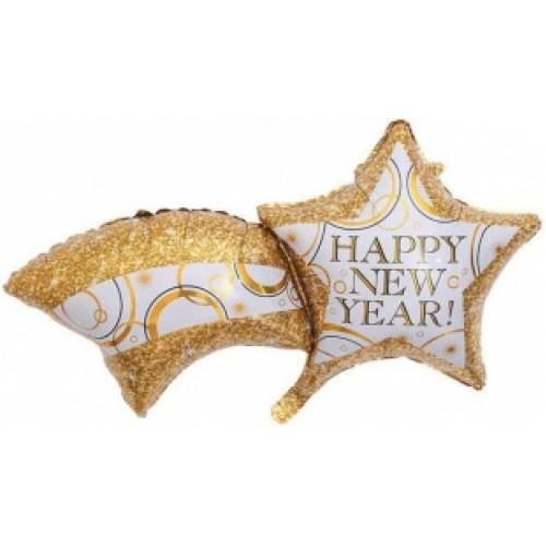 """Фольгированный шар """"Happy New Year"""" 102 см"""