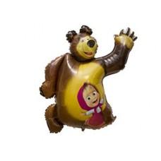 """Фигура фольгированная """"Маша и Медведь""""  89 см"""
