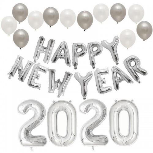 """Оформление шарами на """"Новый Год в серебре"""""""