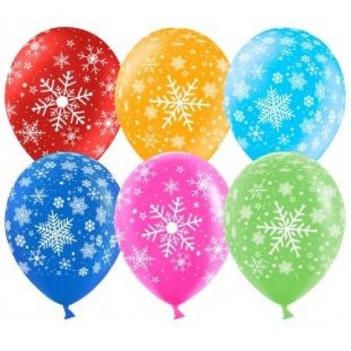 """Воздушные шары """"Снежинки Ассорти"""""""