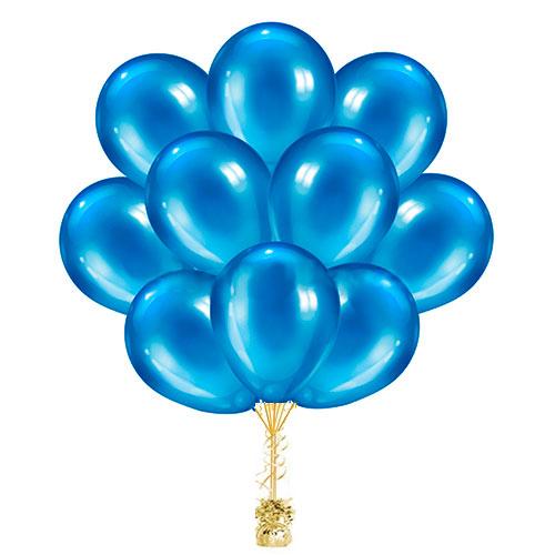 Облако голубых шариков