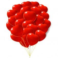 Шары сердца красные ПРЕМИУМ  41 см большие