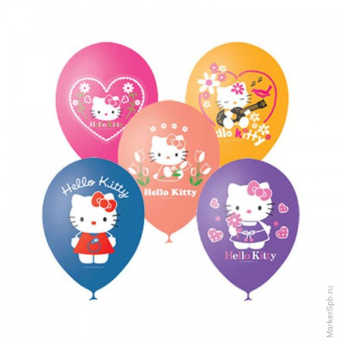 Шарики Hello Kitty пастель