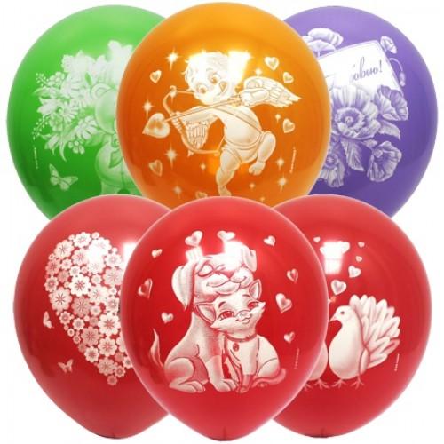 Воздушные шарики любовная тематика