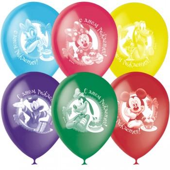 Облако  шаров Микки Маус с днем рождения