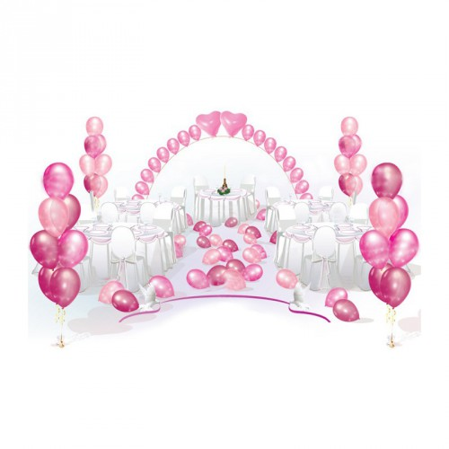Пакет оформления шарами Розовый