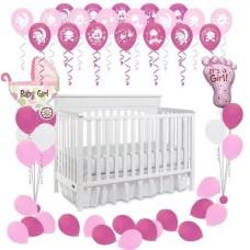 Оформление воздушными  шарами  Рождение Девочки